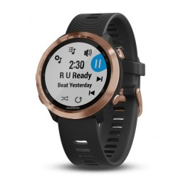 Garmin Forerunner 645 Music, Rose Gold, Black band